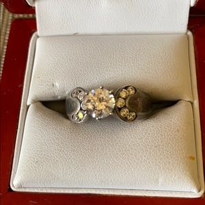 Jewelry - Sterling silver and CZ stone ring